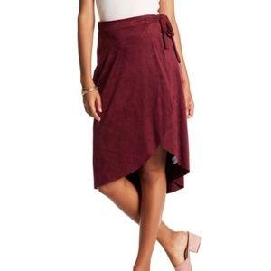 Sole Mio Wrap Midi Skirt